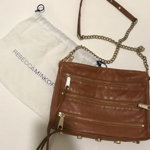 Rebecca minkoff leather zip purse